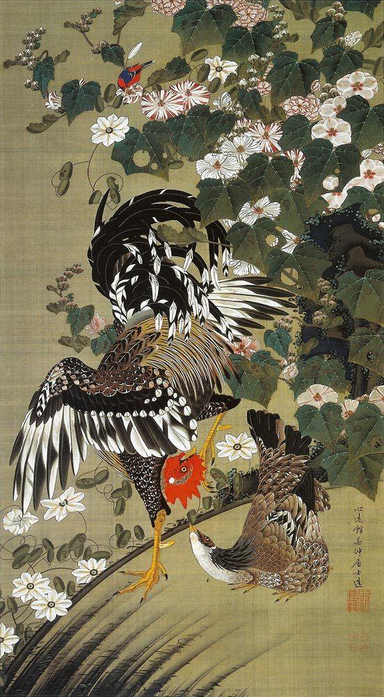 伊藤若冲 Jakuchu Ito | Japanese Art | Arte asiático、Pintura japonesa、Arte