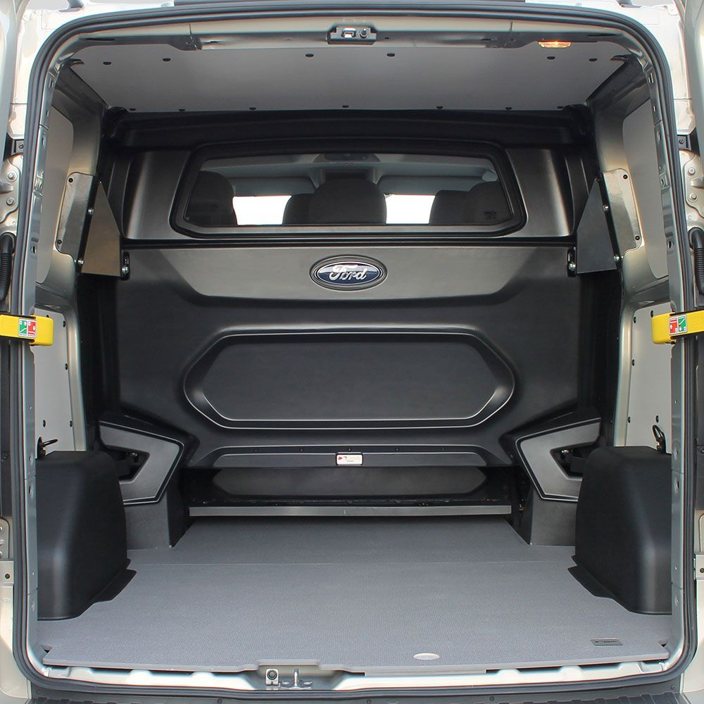 14 Ford Transit Custom L1 270 Swb: Rear View Of The Load Space Showing The Extended Load