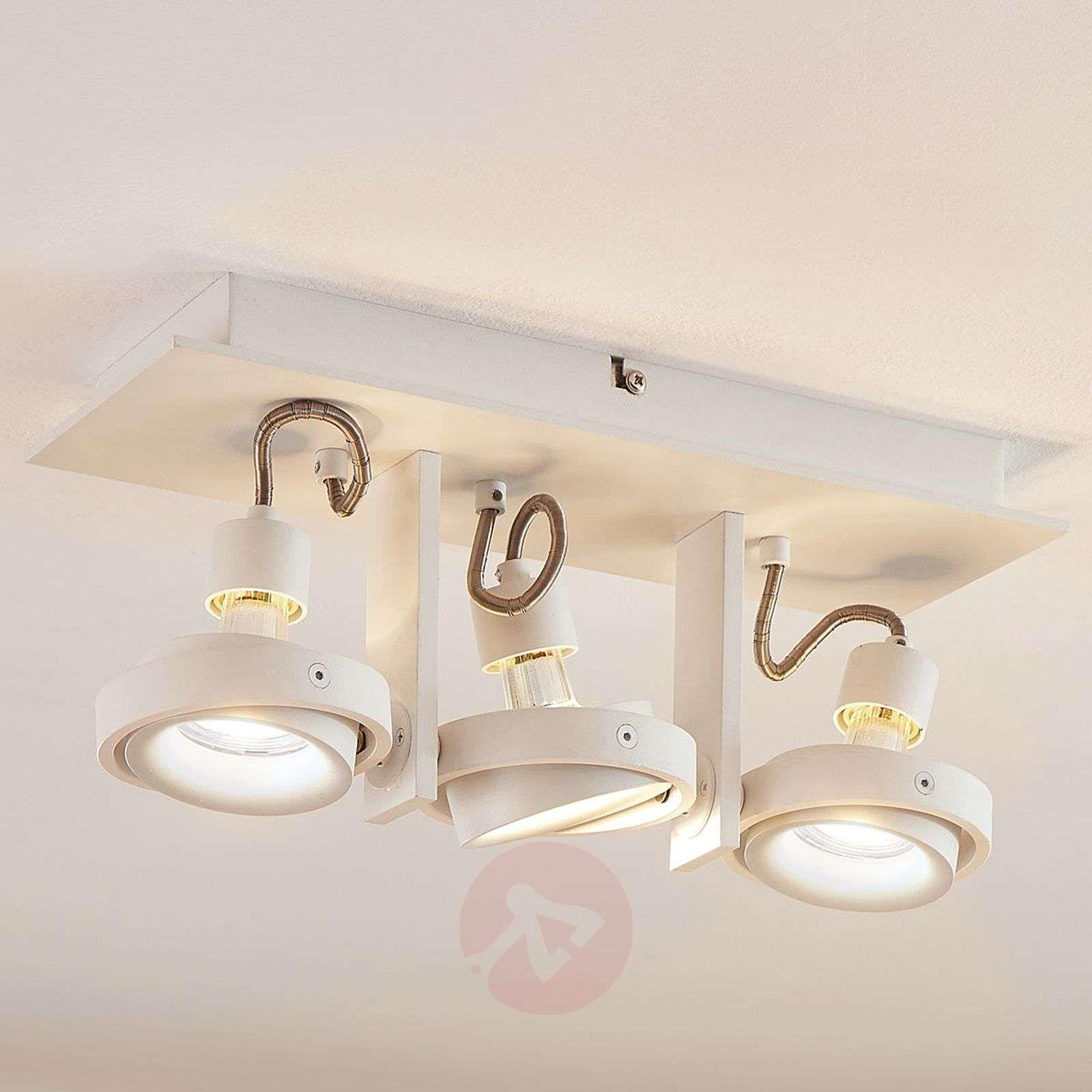 Lampa Sufitowa Led Teska Biała 3 Punkty Lampy Sufitowe