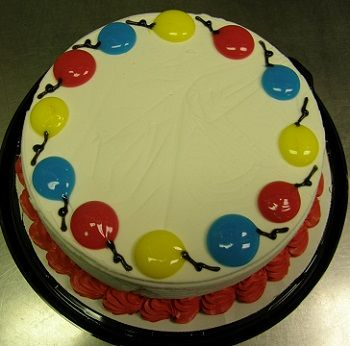 Cake Decoration Balloons : Primary Balloons DQ Dairy Queen Ice Cream Cake  The Cake ...