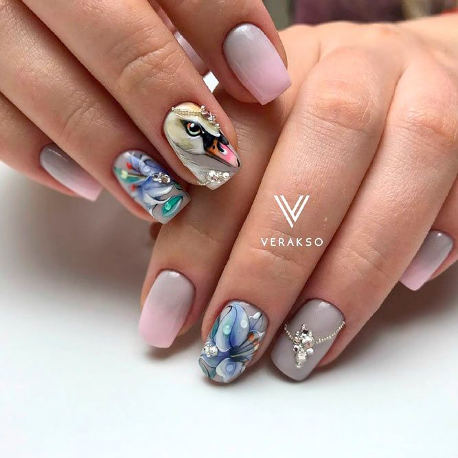 21 Artsy Lovely Nails Designs for a Modern Woman | Uñas Hermosas ...