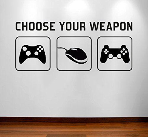 Gamer Video Games Gaming Vinyl Decal Sticker Wall Art Mural Home Decoration