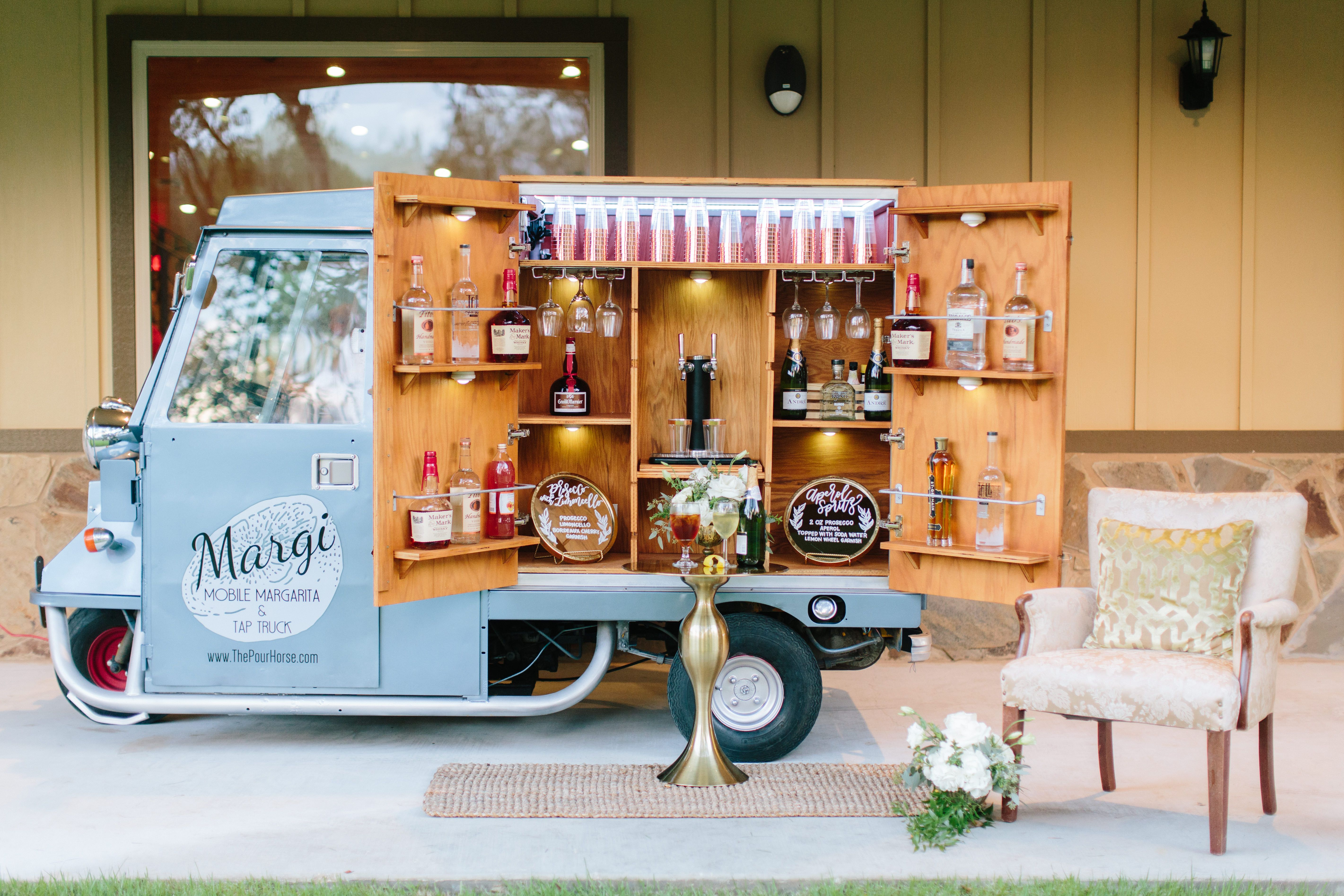 Photo By Pine And Blossom Photography Rentals By Rustic Romance Rentals Florals By Uptown Flowers Mobile Bar Beer Truck Prosecco Van