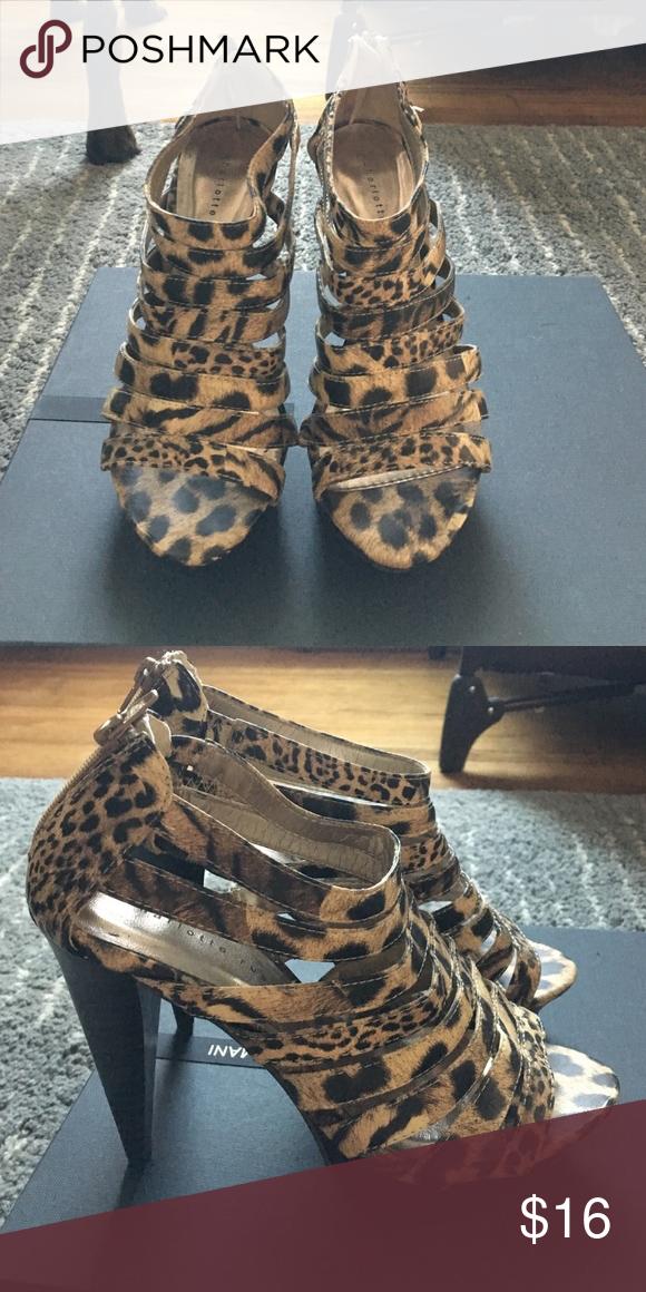 036770b88d1d Charlotte Russe Heels Leopard Heels! Super cute! And comfy. Charlotte Russe  Shoes Heels