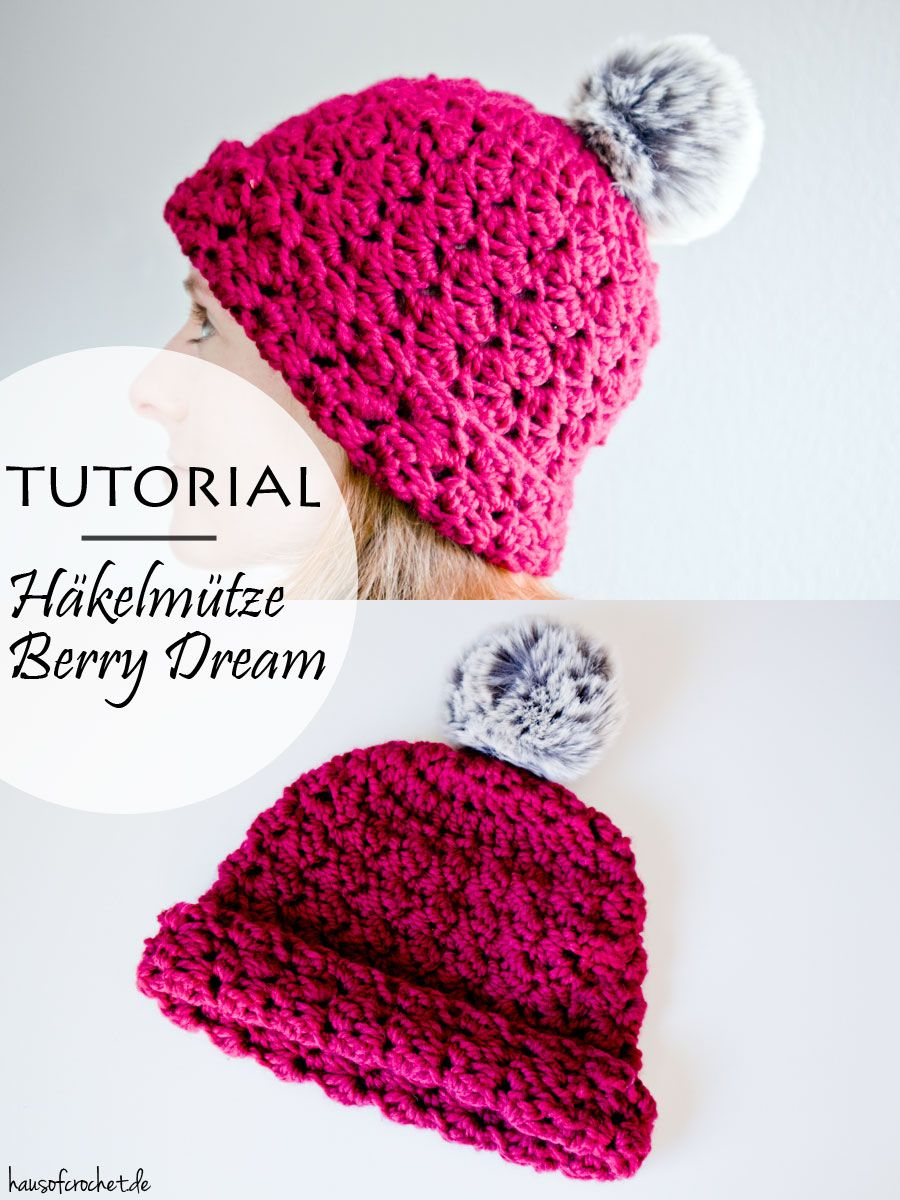 Tutorial Häkelmütze Berry Dream Diy Pinterest Crochet