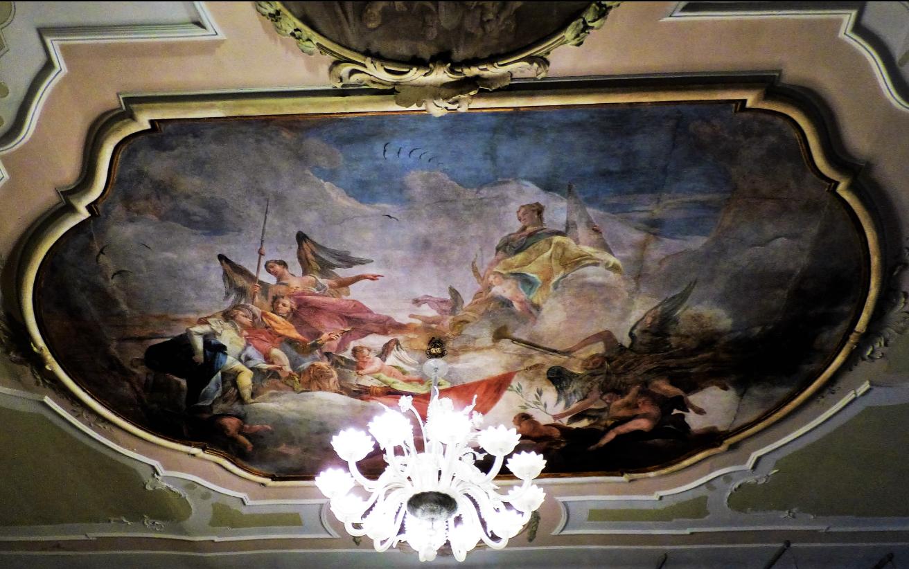 Wunderbares Deckengemälde In Einem Palazzo, Venedig   Foto: S. Hopp
