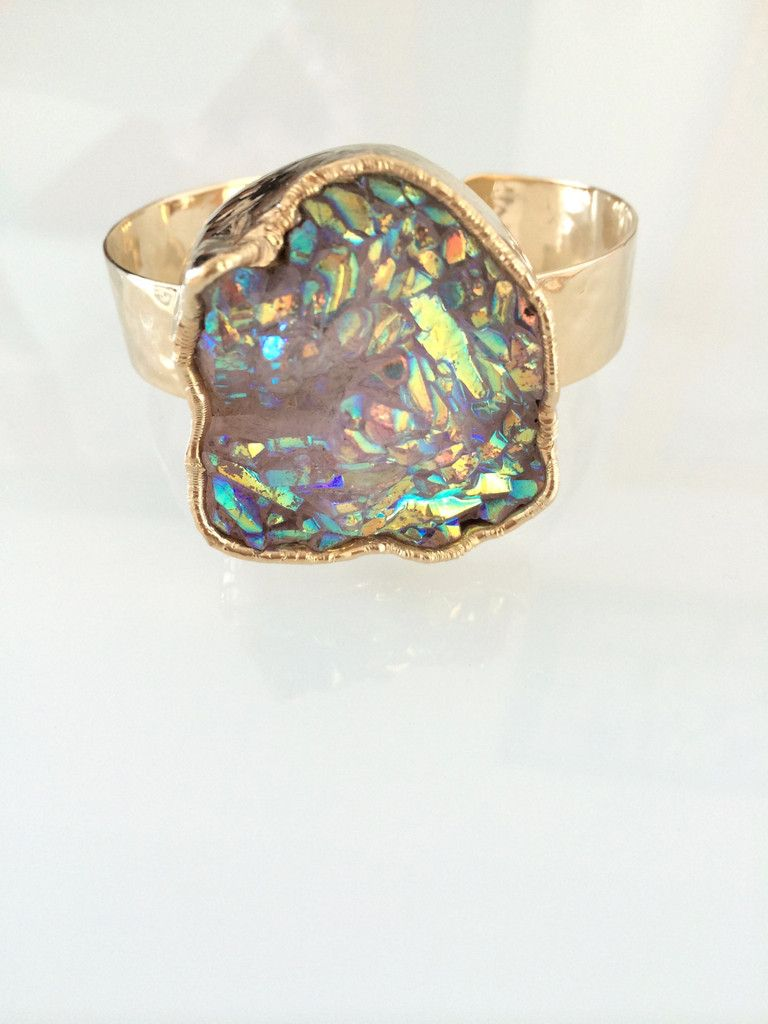 Crystal Aurora Borealis Cuff – Long Lost Jewelry