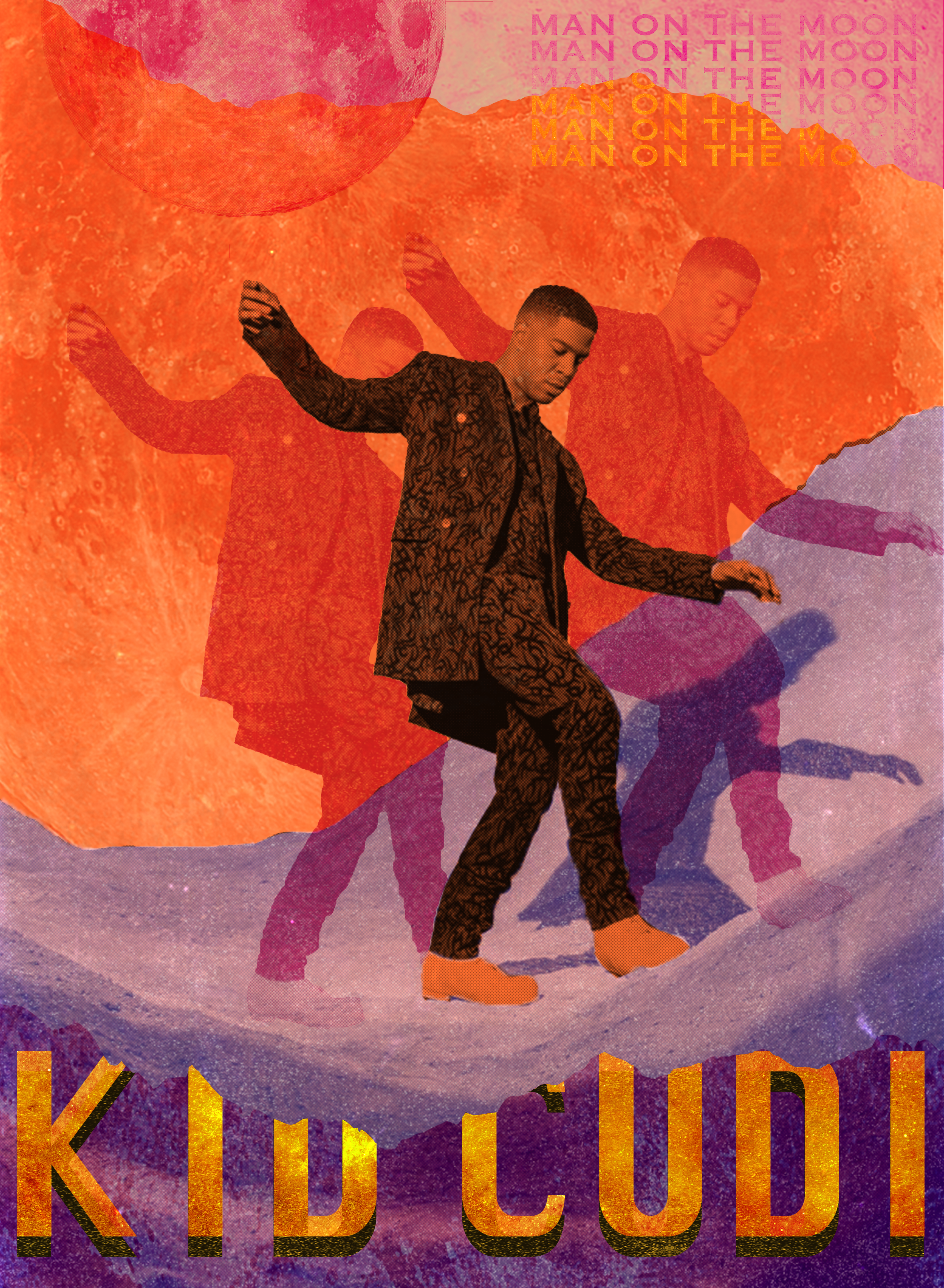 Kid Cudi Picture Collage Wall Art Collage Wall Kid Cudi Poster