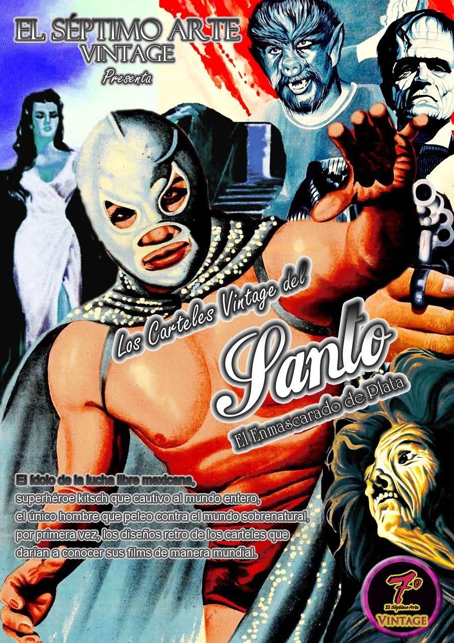 Los carteles vintage del santo enmascarado de plata