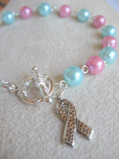 Infertility Infant Loss Pregnancy Awareness Bracelet With Pink And Blue Gl Pearls Miscarriage Remembrance