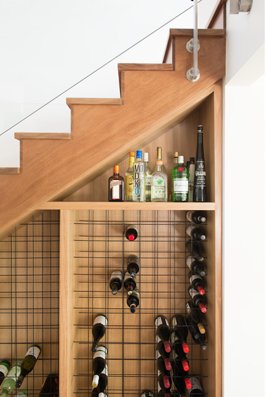Elegant Small Space Heroes: Super Cool (and Sneaky!) Storage Stairs
