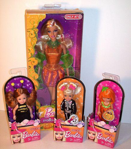 2011 Target Halloween Barbie with Target Halloween Chelseas Barbie
