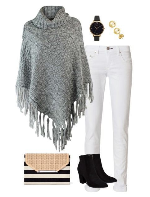 How to Put Together a Poncho Outfit + Outfit Ideas