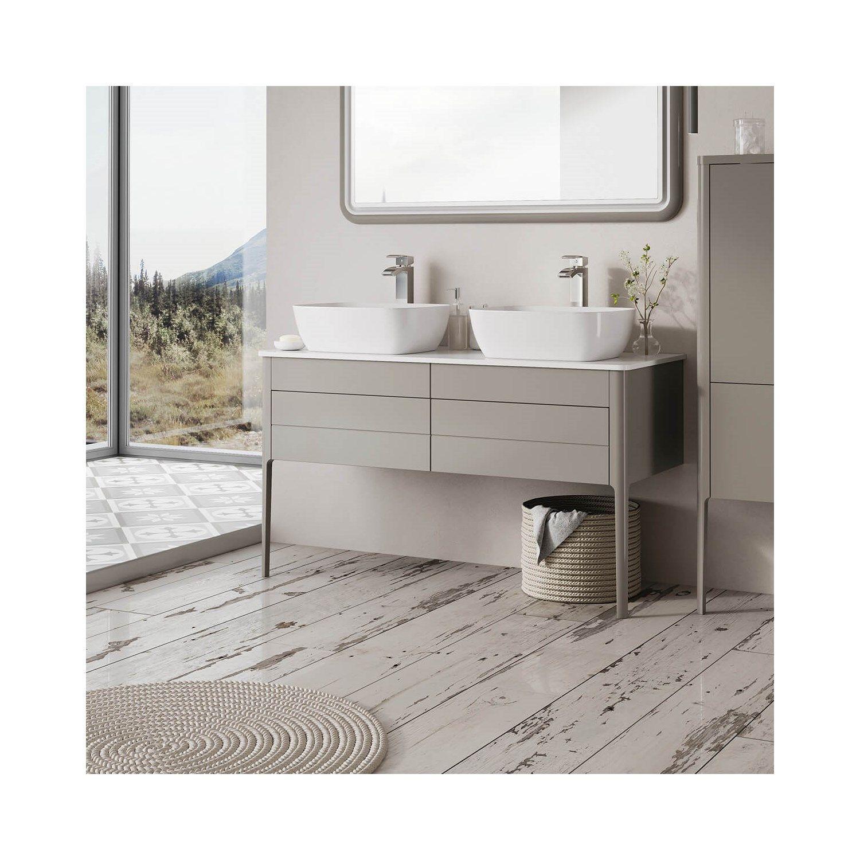 Harbour Serenity 1180mm Floorstanding Unit Worktop French Grey Vanity Units Bathroom Vanity Units Sink Vanity Unit