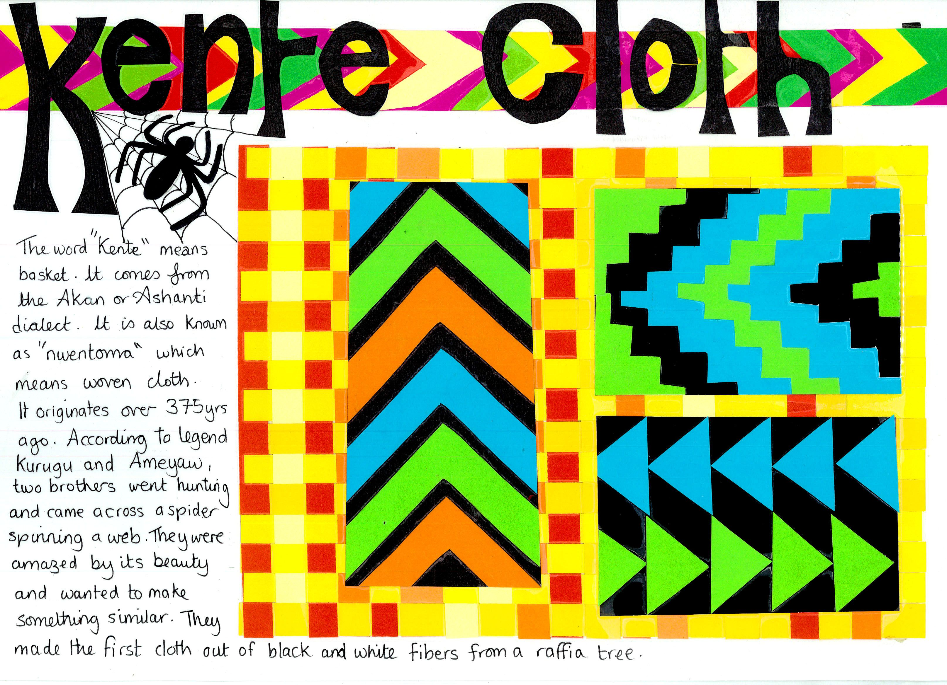 Kente Cloth Worksheet African Art Projects Black History Month