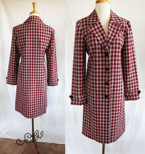1c0ea62423ca3 Vintage 1970s California Concepts long jacket red by DustyDesert ...