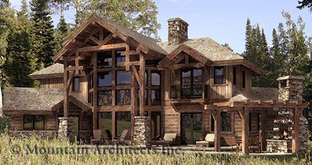 Log Home Plans - PrecisionCraft Log Homes & Timber Frame - Dakota ...