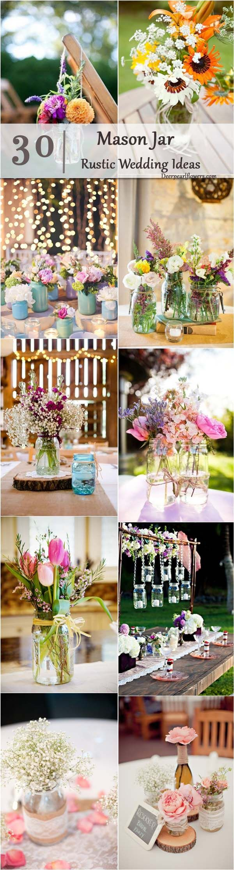 Rustic Country Wedding Ideas Mason Jar Decor Deerpearlflowers Cheap
