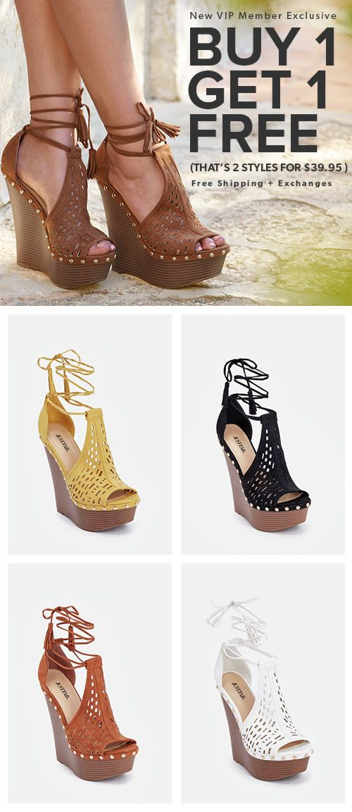 aae978ae30ebab Wedges · Ladies Shoes · BOGO Spring Styles are In - Get Your First 2 Styles  for Only  39.95! Make