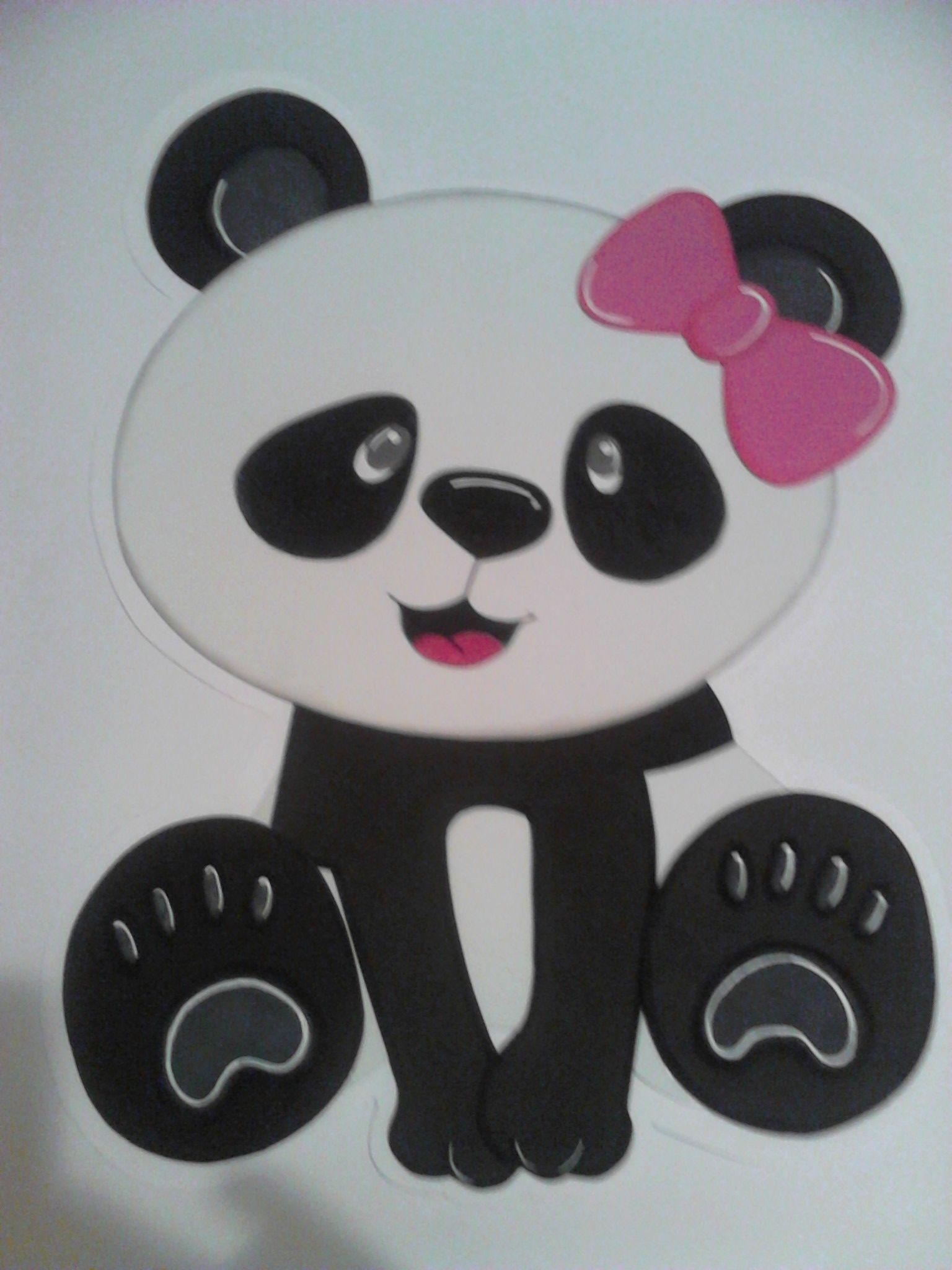 Dibujo en foam para pared fiesta tem tica de pandas para - Dibujos para paredes ...
