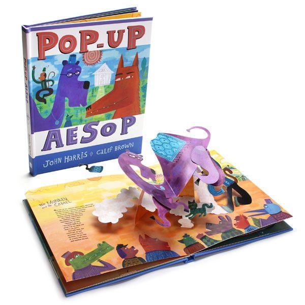 kids books aesop pop up book