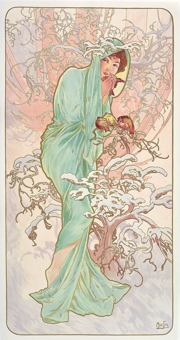 How Alphonse Mucha's Iconic Posters Came to Define Art Nouveau -   13 beauty Icon art ideas