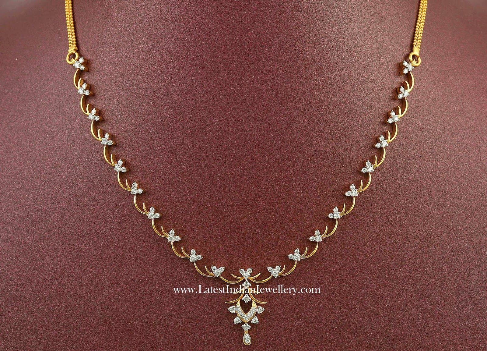Simple indian diamond necklace designs topclass jewelries
