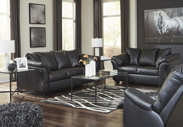 Best Betrillo Black Living Room Set Black Living Room Set Sofa Loveseat Set Value City Furniture 400 x 300