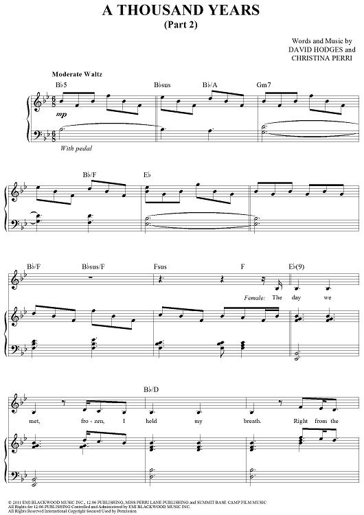 the words christina perri piano sheet music pdf