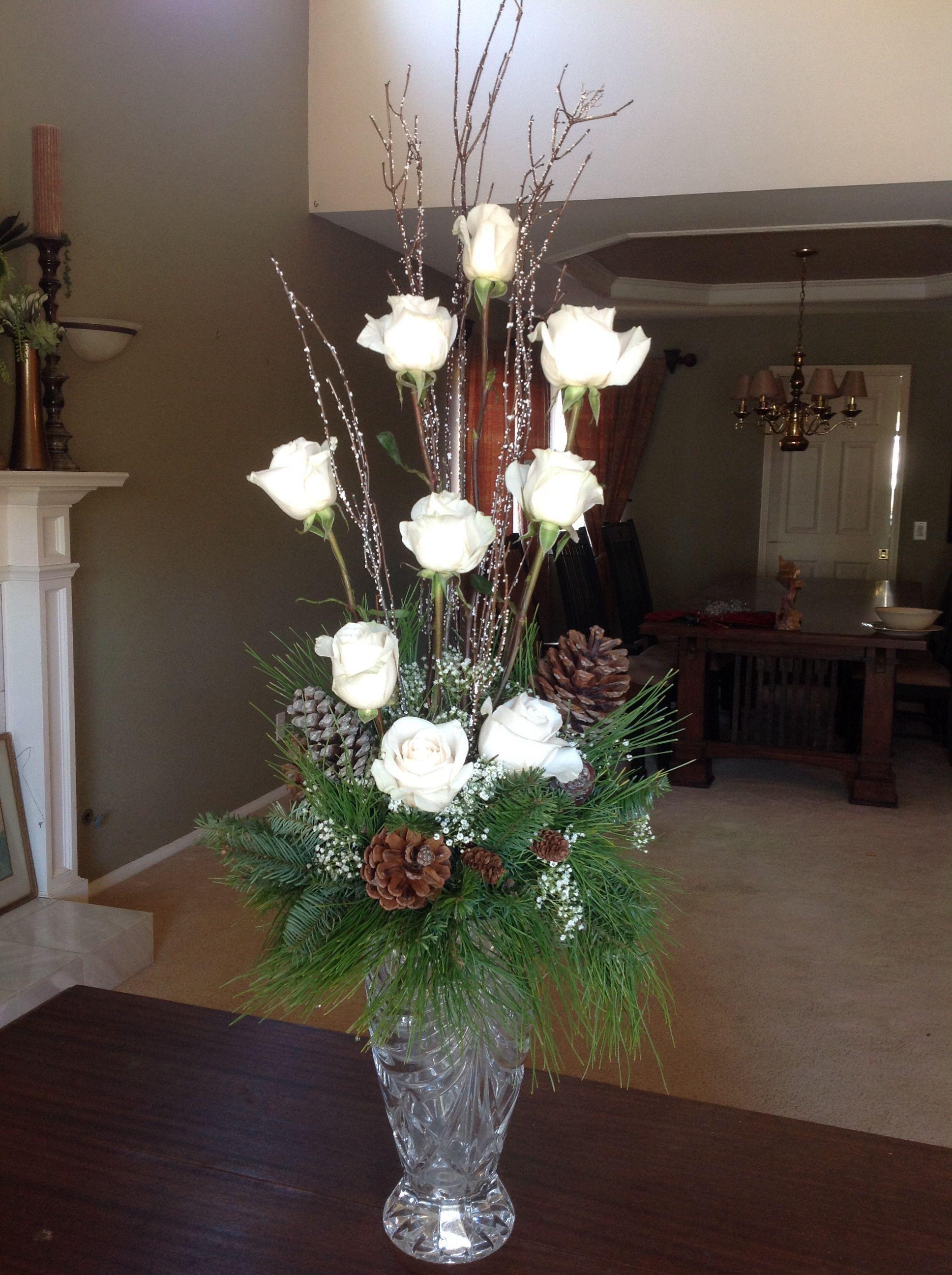 Elegant winter floral arrangement Christmas floral