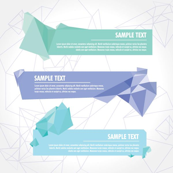 Crystallized Banners Vector Graphic u2014 advertising, crystalized - fresh invitation banner vector