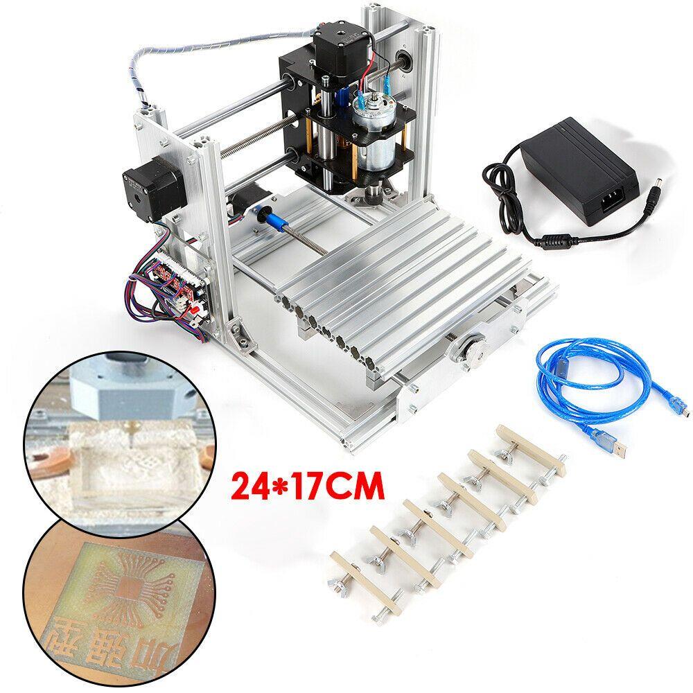 Ebay Sponsored Mini Diy Cnc 2417 Mill Router Kit Usb Desktop Metal Engraver Pcb Milling Machine Cnc Routeur Fraiseuse