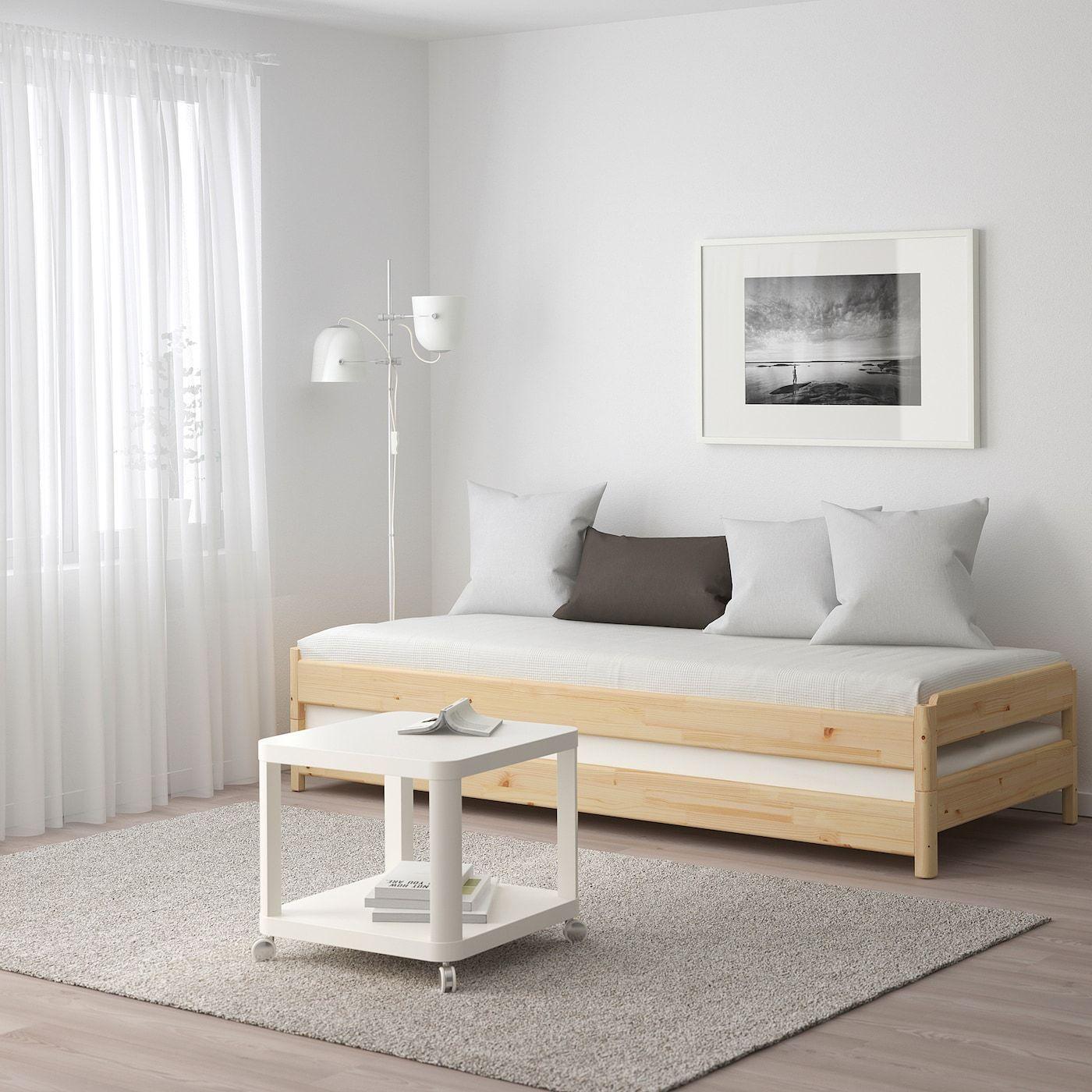 Utaker Bett Stapelbar Kiefer Ikea Osterreich In 2020 Murphy Bett Ikea Bett Ideen Diy Klappbett