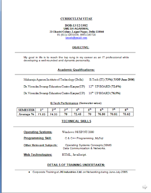 Curriculum Vitae Modello Da Compilare Free Download Sample Template