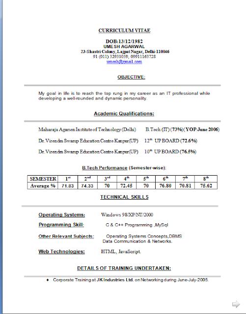 Curriculum Vitae Modello Da Compilare Free Download Sample