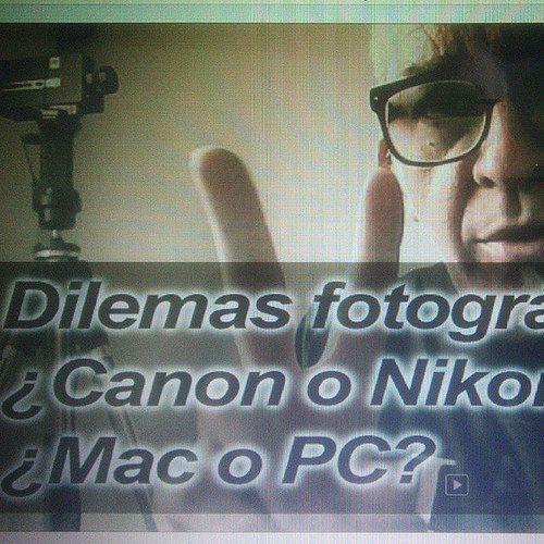 Ya has visto el vídeo? #iconoclasta respuesta  a los #dilemasfotograficos #nikon_vs_canon y #mac_vs_pc avisad@ estás... www.YouTube.com/photomamp | por photomamp.com