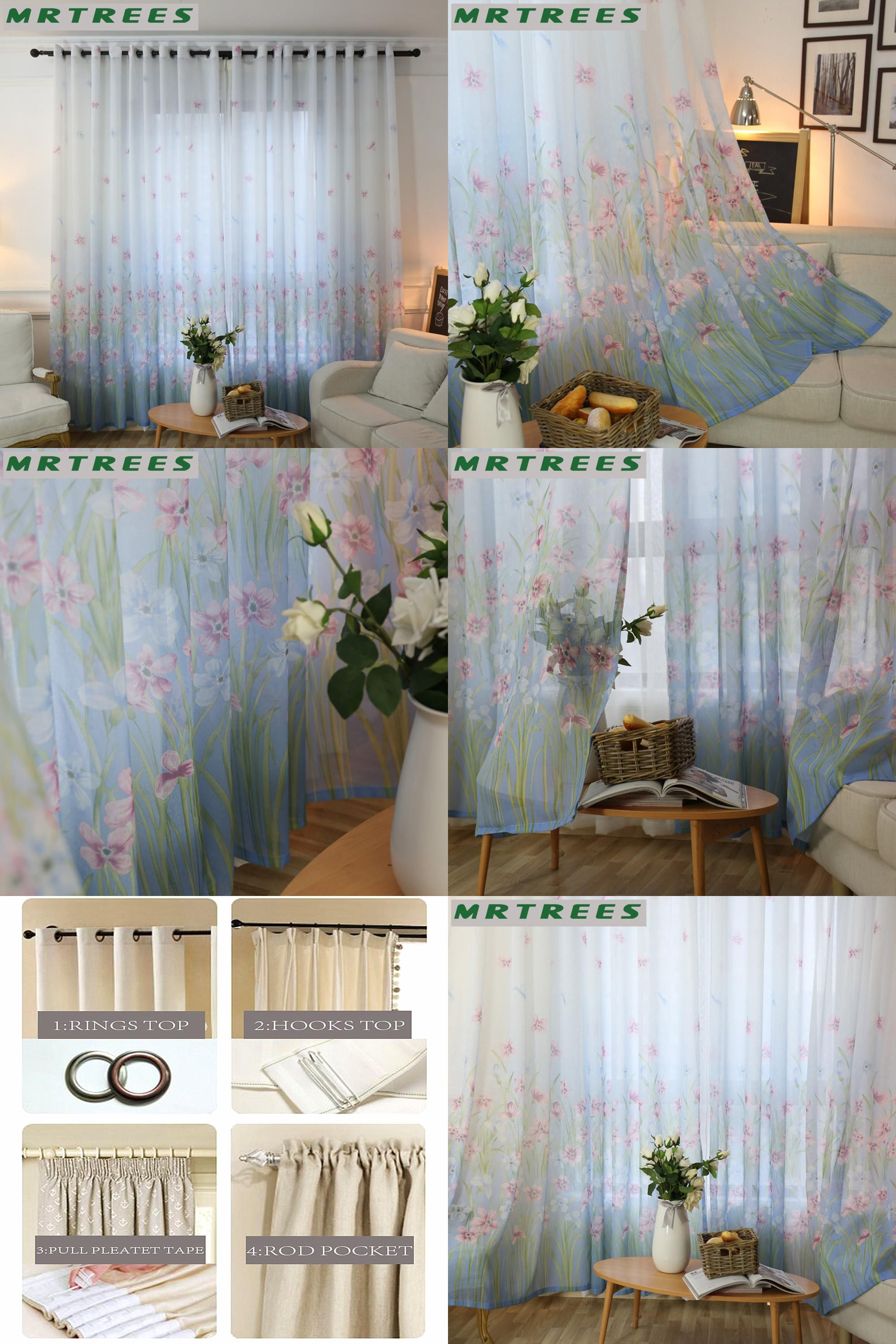 2 window bedroom ideas  visit to buy floral sheer curtains window curtains for living room