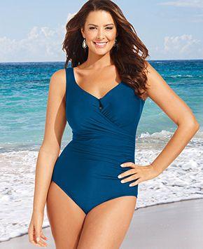 miraclesuit plus size escape one-piece swimsuit - plus size