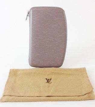 Authentic Louis Vuitton Epi Leather Lilac Geode Organizer Zippy Wallet $625