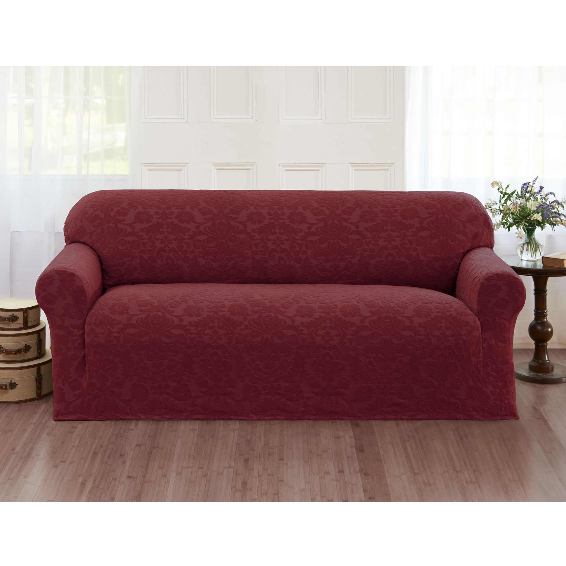 Sanctuary Velvet Damask Stretch Sofa Slipcover by Sanctuary