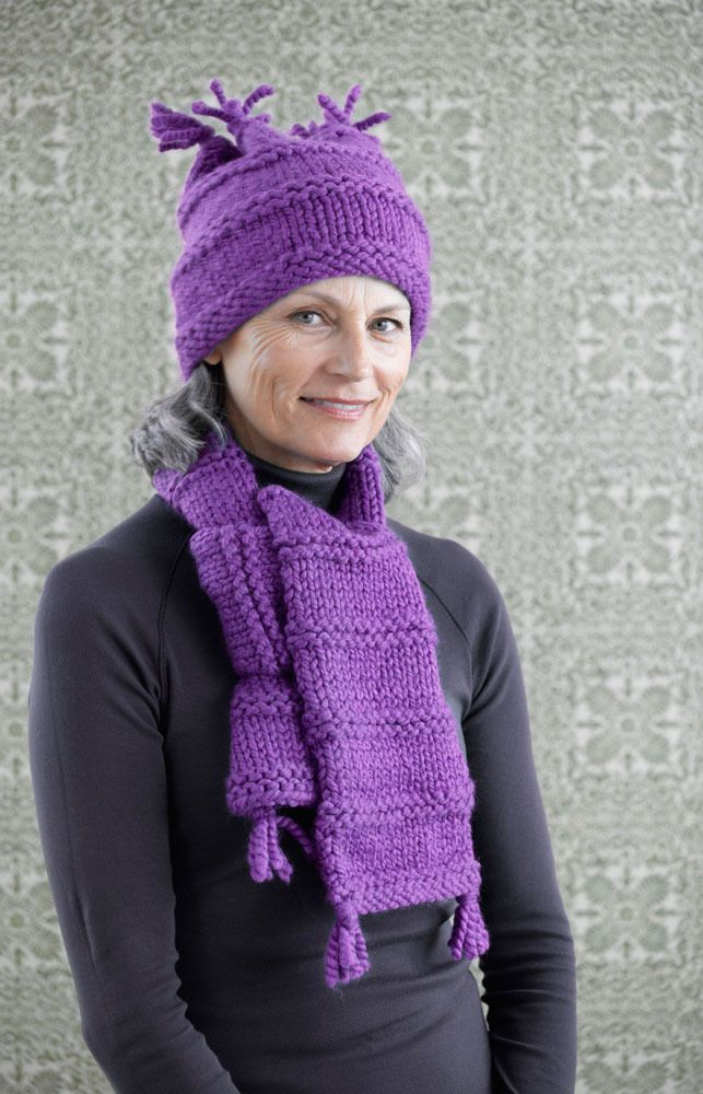 Easy Warmth Hat And Scarf In Lion Brand Hometown Usa 90592ad