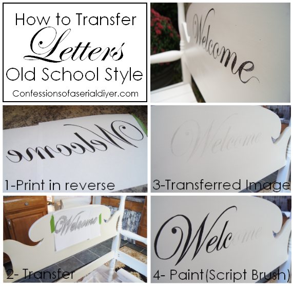 How to Transfer Letters Old School Style