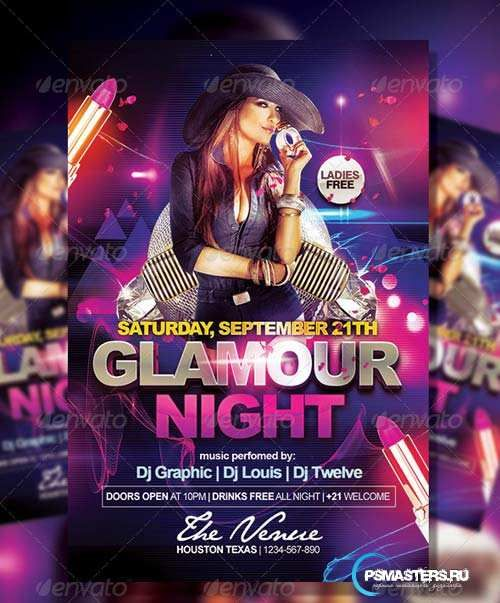 Graphicriver Glamour Night  Flyer Template  Diseo