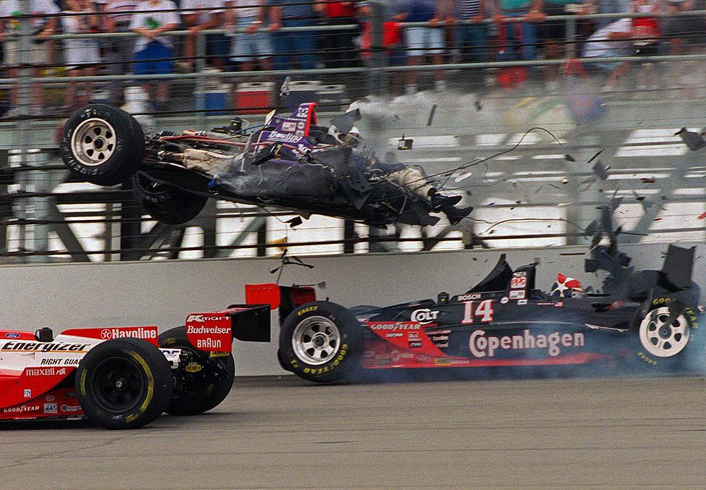 Spectacular Crashes From The Indianapolis 500 Racing Race Cars Car Crash