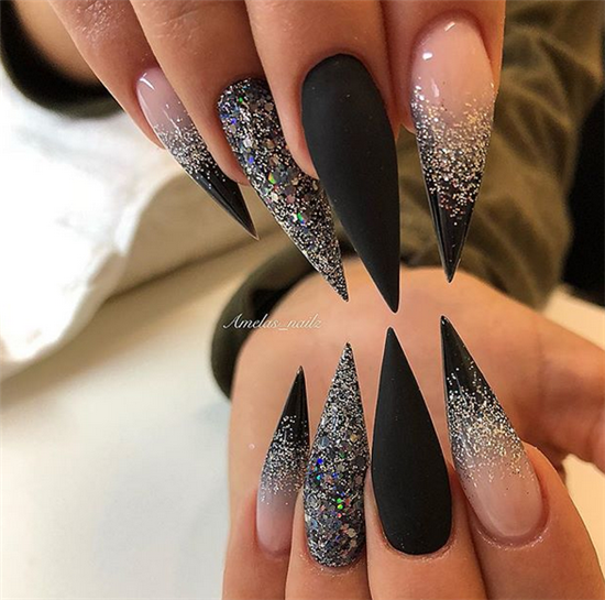 Erogenous Acrylic Stiletto Nails Designs In Fall Fall Is Approaching Stiletto Nails Are Always The Best Choic Gothic Nails Modern Nails Stiletto Nails Designs