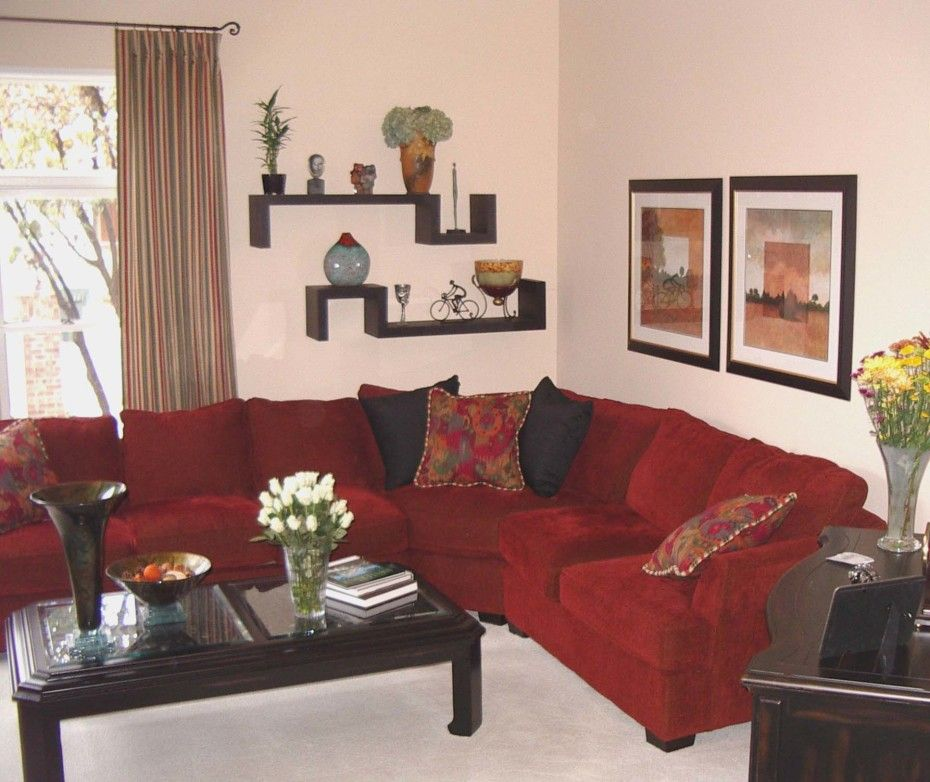 Brown And Red Living Room Decor Ideas: Lovely Small Living Room Decorating Ideas Presenting Misty