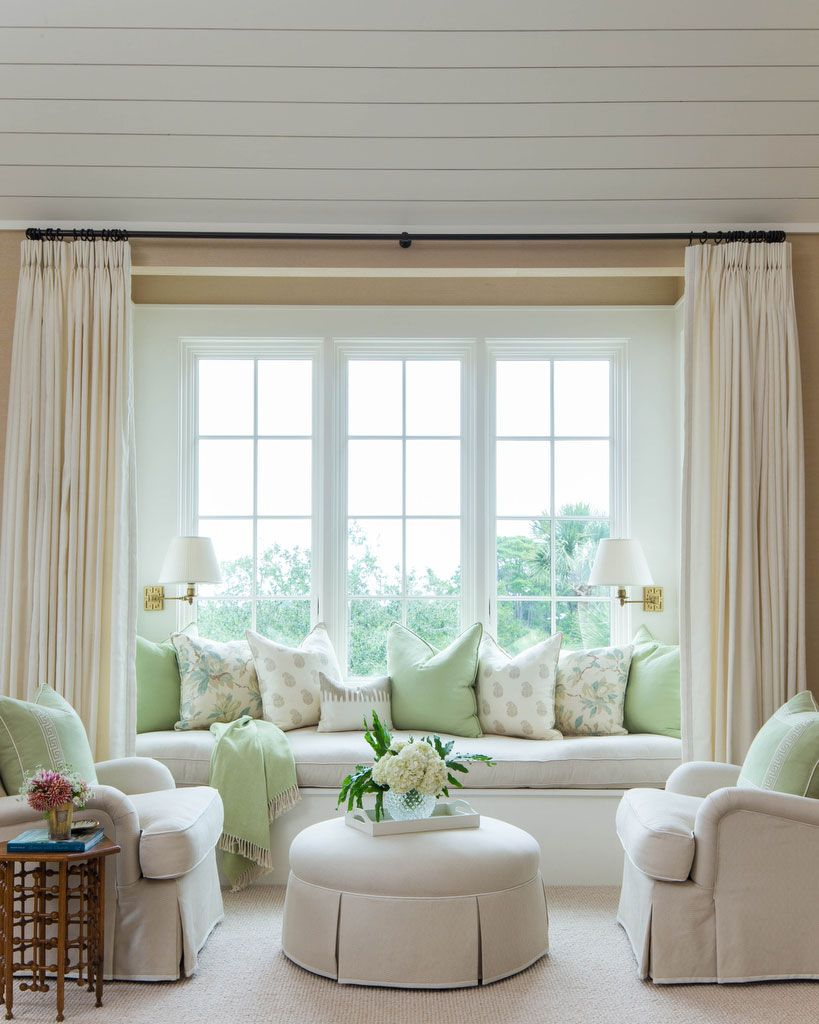 Window Seat with Club Chairs | Room Makeovers | Pinterest | Window ...