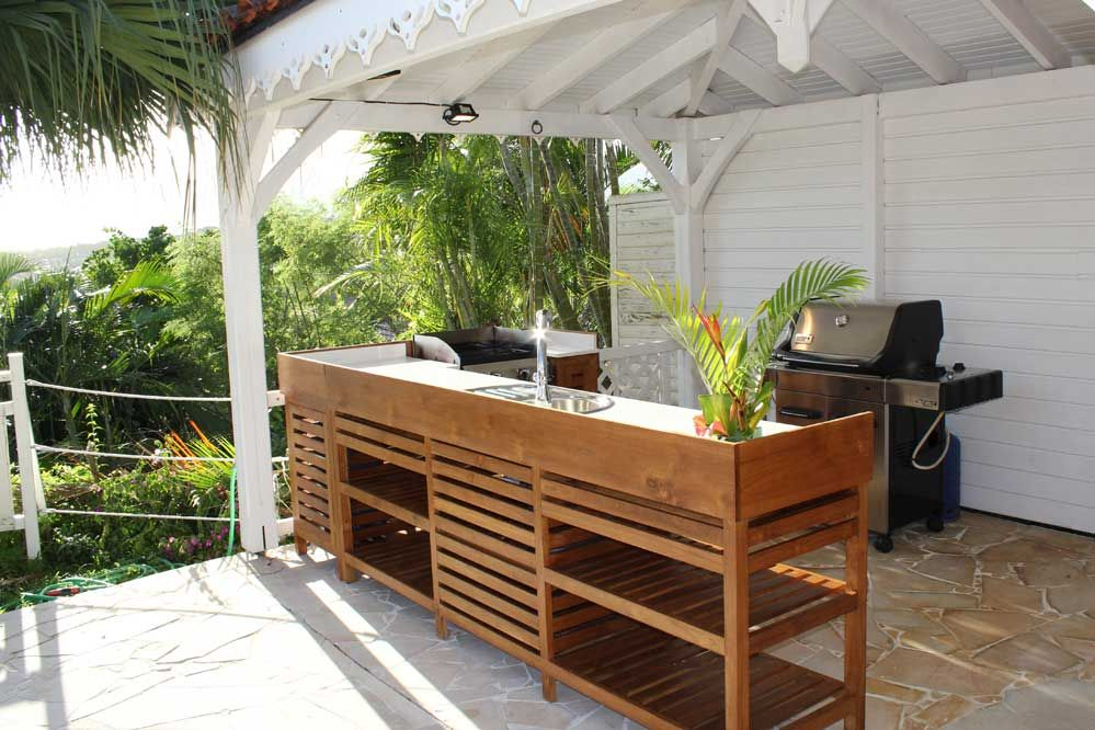 Cuisine exterieure am nagement ext rieur pinterest for Amenagement jardin guadeloupe