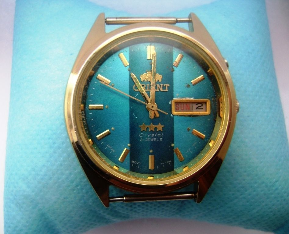 Orient Watch 3 Stars Crystal 21 Jewels Man Orient Watch Watches For Men Crystals