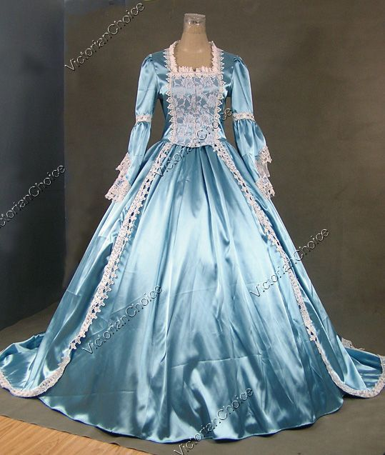 b1d6aa66fca99 Marie Antoinette Gothic Victorian Ball Gown Wedding Dress Reenactment Stage  Costume